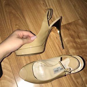 Jimmy Choo Nova Peep toe sling backs size 39